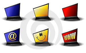 abstract-cartoon-laptop-computers-thumb4633294